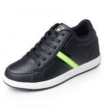sports shoes 5bae8 03eea fashionable height 7cm   2.75inches elevator Walking shoes black taller  Skateboarding footwear cheap online sale at topoutshoes.com