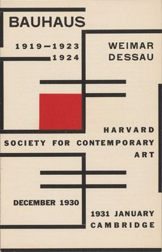 Catalogue for Bauhaus: Weimar, 1919–23; Dessau, 1924 | Harvard Society for Contemporary Art
