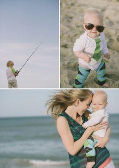 Fun Family Beach Session in North Carolina