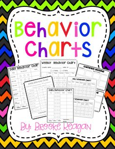 These are great and every easy to understand behavior charts. There are many different types to meet the needs of your students!