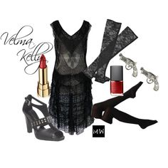 """""""Velma Kelly"""" by duckyrose on Polyvore-fashion inspired by Chicago"""