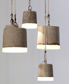 """""""Benton"""" Pendent Lights - Concrete and Silicone * Shock of the Lighting * The Inner Interiorista Concrete Light, Concrete Ceiling, Modern Chandelier, Chandelier Lighting, Pendant Lamp, Lamp Light, Light Fixtures, Ceiling Lights, Wall Lights"""