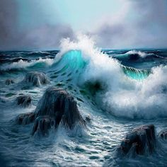 *Sea the Waves* No Wave, Stürmische See, The Ocean, Nature Sauvage, Rough Seas, Stormy Sea, Wow Art, Sea Waves, Nature Photography