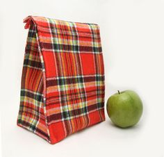 Plaid Insulated Lunch Bag on Etsy