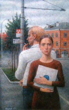 Boris Paromov Soviet Art, Great Paintings, Couple Art, Nativity, Culture, Fine Art, Couples, Urban Landscape, Paisajes