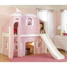 Cottage Deluxe Low Loft Tent Bed - DIY? Getting this or something like it for maya! She would fall in love!!!!