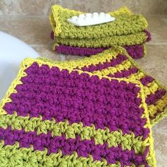 Textured Washcloth These Textured Washcloths are a great stash-buster; using simple stitches, and just a handful of yarn, you can make a stack in no time at all! Materials • Yarn: Medium, Weight 4;…
