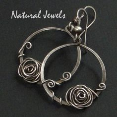 Silver Earrings – LINK TO: Silver earrings SILVER ROSE IN CIRCLE – a unique product by NaturalJewels on DaWanda