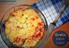 Ponto de Rebuçado Receitas: Gratin de batata e curgete