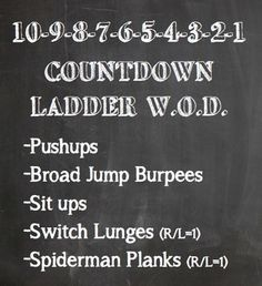 Bodyweight only. Anywhere cross fit ladder WOD. #vampFITNESS