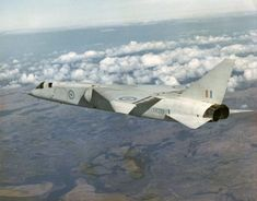 Looking in need of a good wash and showing wear from a vigorous test flight programme, the Mach 2.5 BAC TSR2 XR219 flies off to an unknown fate in 1965.