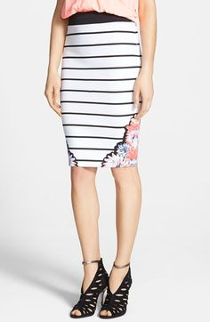 Such a cool stripe skirt