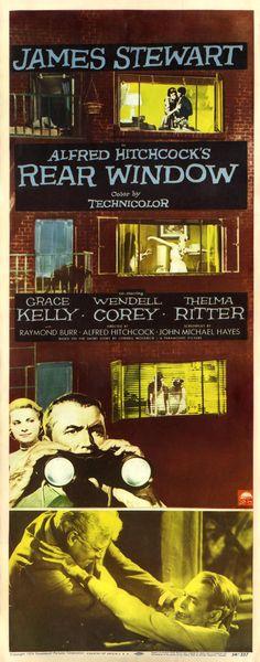 'Rear Window' movie poster, 1954