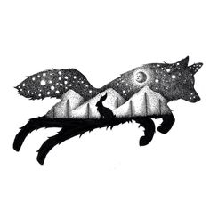 Beautiful Double Exposure Illustrations Made Using Thousands Of Tiny Dots | UltraLinx