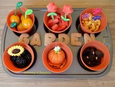 Becoming A Bentoholic: Garden Muffin Tin Meal