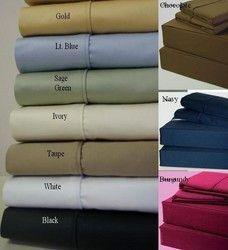 "21"" Super Deep Pocket -Egyptian Cotton 600TC Pillow-Top Bed Sheet Sets Color: Gold Size: Queen"