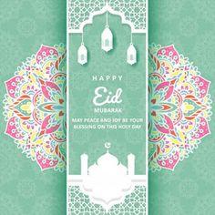 Eid Mubarak greeting card with mandala ornament Premium Vector Eid Mubarak Images, Eid Mubarak Wishes, Eid Mubarak Greeting Cards, Eid Mubarak Greetings, Happy Eid Mubarak, Eid Mubarak Quotes, Ramadan, Happy Eid Ul Fitr, Eid Mubarak Wallpaper