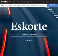 Eskorte, by Rosetta Type Serious Business, Custom Fonts, Announcement, Character Design, Ads, Feelings, Calligraphy, Type, Lettering
