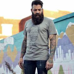 beards and tats Gay Beard, Epic Beard, Beard Lover, Beard Care, Groom Style, Hair And Beard Styles, Beards, Poses, Mens Tops