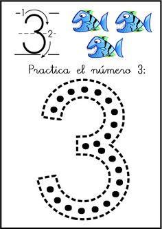 lectoescritura de numeros el 3 ficha 4 Numbers Preschool, Math Numbers, Preschool Printables, Preschool Worksheets, Math 2, Math Games, Finger Plays, Simple Math, Step Kids