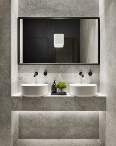 A closer look at the marble bathrooms at PDG.