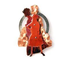 Claudia Steiner. Brooch: Remember Portraits-Serie1, 2012. 925 silver, Shibuichi, copper, resin.