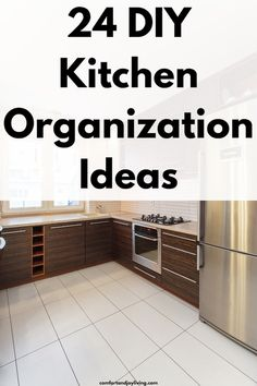 24 DIY Kitchen Organization Ideas Kitchen Sink Storage, Diy Kitchen, Kitchen Cleaning, Kitchen Utensils, Kitchen Tools, Kitchen Gadgets, Cleaning Tips, Kitchen Decor, Office Supply Organization