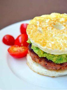 Paleo Egg McMuffin, egg recipes - lemon curd, Italian baked egg, harvest Cobb salad... YUM!