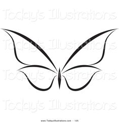 Royalty Free Stock New Designs of Black and White Butterflies White butterfly tattoo Butterfly tattoo Butterfly outline