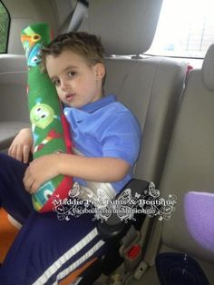 Seat belt pillow/ Pillow buddy by MaddiePiesBoutique on Etsy, $18.00