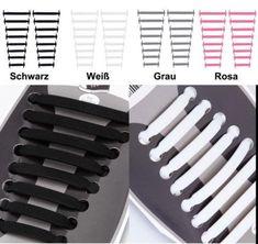 DE NEU Silikon Schnürsenkel 16 Stück Schuhsenkel Elastisch Schuhbänder Schuhband Band, Knife Block, Twine, Sash, Bands