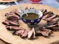 Skirt Steak with Chermoula * From Valerie's Home Cooking Patio Party TV show with recipes Steak Recipes, Grilling Recipes, Cooking Recipes, Cooking Food, Cooking Turkey, Cat Recipes, Food Food, Yummy Recipes, Party