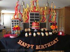 Firefighter Birthday Party Decor