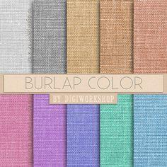 "#Burlap Digital #Paper - ""Burlap Color""  10 burlap digital paper ""Burlap Color"" with great burlap, #linen, #jute texture in green, blue, red, yellow for every #creative projec... #etsy #digiworkshop #scrapbooking #illustration #clipart #printables #crafting #supplies #paper #burlap #fabric"
