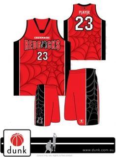 Chermside Redbacks basketball uniform http://www.dunk.com.au/uniforms/popular/
