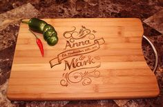 Engraved Bamboo Cutting Board - Custom Engraved - Personalized - Home Decor - Wedding Gift - Kitchen