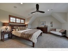 Private and sunny #master bedroom with two walk-in closets!
