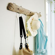 For laundry room and garage Driftwood coatrack < Easy home decorating projects - Sunset.com