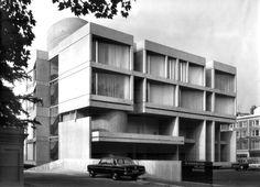The Slovak Embassy, Kensington Palace Gardens, London. Architects: Jan Bočan, Jan Šrámek and Karel Štěpánský, 1970.