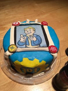 Fallout Themed Cake Cakes Pinterest Themed Cakes Fallout - Cake birthday games