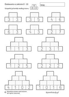 Math Games, Math Activities, Maths Sums, Kids Math Worksheets, Abc For Kids, Kindergarten Lesson Plans, 1st Grade Math, Preschool Learning, Play To Learn