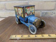 Scarce Hudson Scott Santa Christmas Delivery Truck Biscuit Tin Toy C1920s  | eBay