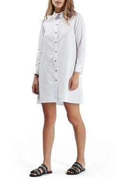 Topshop Oversize Poplin Shirtdress available at #Nordstrom