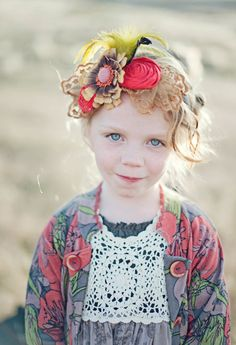 Rustic Fall Fascinator headband to match MJC You & Me collection, special occasion, magazine shoot, holiday headband. $42.95, via Etsy.