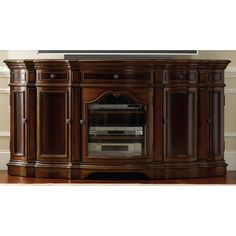The Hooker Furniture 74 in. Entertainment Console brings a unique design to your home décor. The traditional design of this console features. Hooker Furniture, Home Office Furniture, Fine Furniture, Antique Furniture, Furniture Ideas, Entertainment Center Furniture, Home Entertainment Centers, Console, Solid Wood Tv Stand
