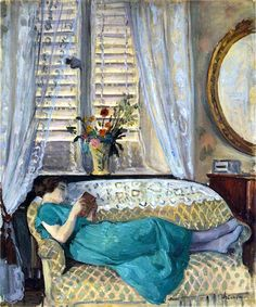 Henri Lebasque - A Woman Reading