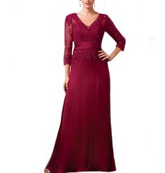 LinSposa A-line Plus Size / Petite Mother of the Bride Dress Long Sleeve D174 *** Stop everything and read more details here! : Mother of the Bride