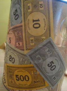 monopoly money paint bucket