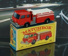 Absolutely loved playing with my big brothers matchbox cars! Even had an awesome town drawn out on cardboard to drive thru the streets! Yep, he had a fire truck for emergency fires in town too!