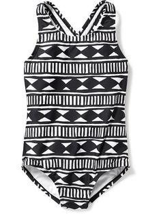 Printed One-Piece Swimsuit for Girls Product Image
